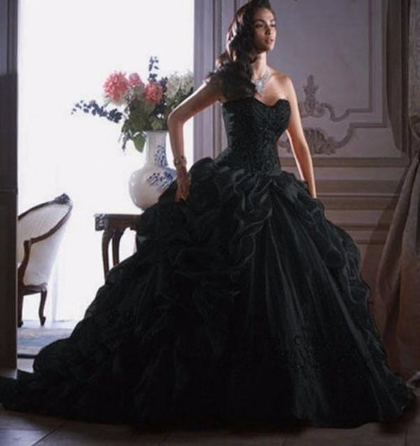 Black Ball Gowns Cheap_Black Dresses_dressesss