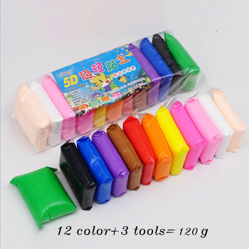 Colorful Fluffy Slime Fimo Polymer Clay Supplies Chancellory Cotton Clay Super Light Clay Toy Intelligent Plasticine For Kids