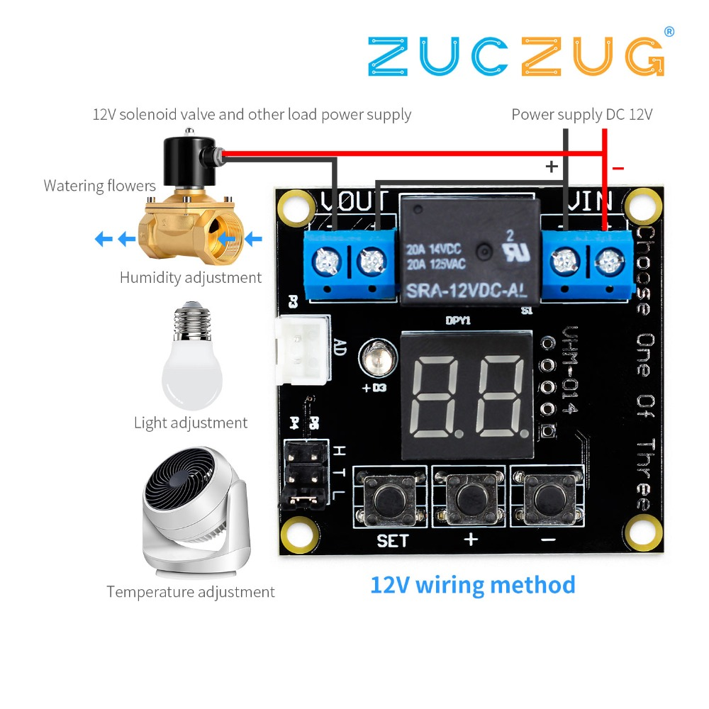 12V Soil Humidity Sensor Controller Irrigation System Automatic Watering Module Digital Humidity Controller