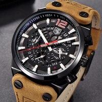 BENYAR Cronógrafo Esportes Homens Relógios Top Marca de Luxo Relógio de Quartzo Relógio Todos Os Ponteiros de Trabalho À Prova D' Água Relógio de Negócios BY-5112M