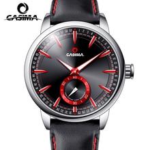 Fashion sports wristwatches watch men leather casual newest luminous quartz watch men water resistant 100m 8304