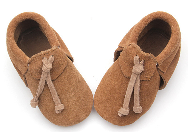 wholesales Handmade Genuine suede Leather Baby Moccasins Shoes brown tassel Baby boys Shoes Newborn first walker toddler Shoes