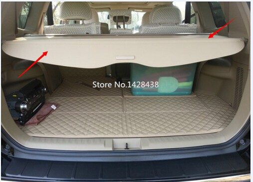 REAR CARGO SECURITY TRUNK COVER RETRACTABLE for 09-13 Toyota HIGHLANDER