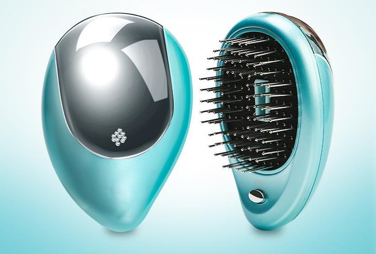Portable Electric Hair Ionic Brush Hair Straightener Brush Negative Ion Comb Anti-static Massage Mini Straight Hair Comb