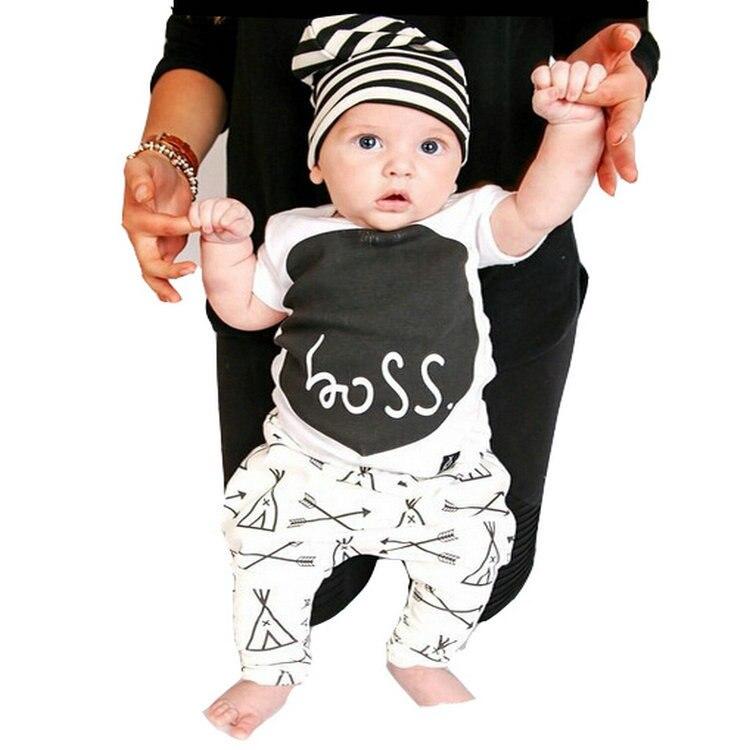 Newborn 2016 toddler baby boy clothing sets summer 2 piece for Dark denim toddler shirt
