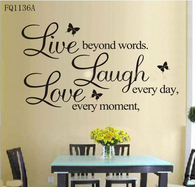"Love Quote Of The Day Captivating B Vinyl Decal ""live Every Momentlaugh Every Daylove Beyond Words"