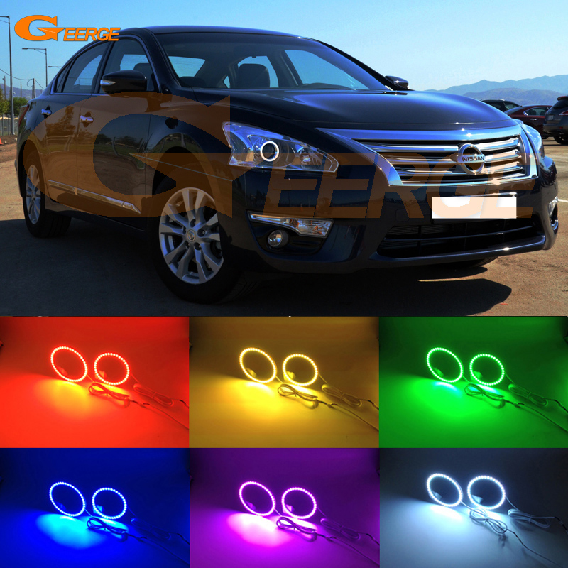 For Nissan Teana L33 Altima 2013 2014 2015 Excellent Angel Eyes Multi-Color Ultra bright RGB LED Angel Eyes kit halo rings for nissan laurel club s c35 1997 1998 1999 2000 2001 2002 excellent multi color ultra bright rgb led angel eyes kit halo rings