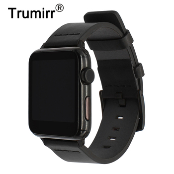 Italy Genuine Cow Leather Watchband for iWatch Apple Watch 38mm 40mm 42mm 44mm Series 1 2 3 4 Band Steel Clasp Belt Wrist Strap