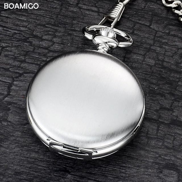 BOAMIGO brand FOB pocket watches fashion mechanical hand wind skeleton watches s