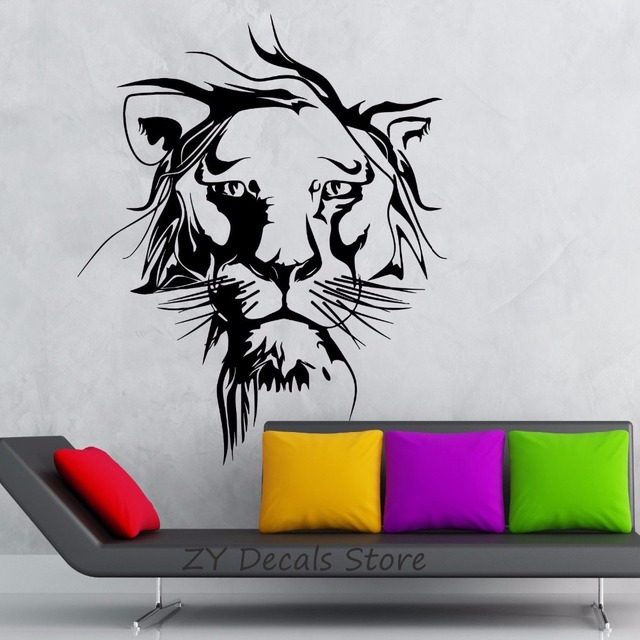 lion wall decals jungle animal vinyl wall sticker for kids room boy