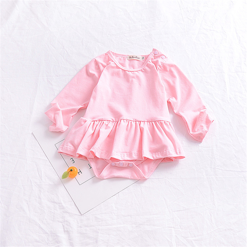 2018 Infant Bodysuit Pink Baby Girl Clothes Baby Girl Bodysuits Tutu Sunsuits For Infant Girls Newborn Onesie Tiny Cottons
