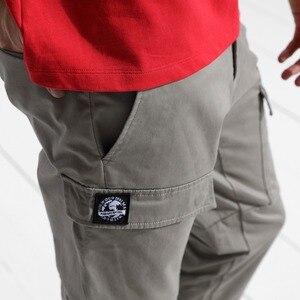 Image 3 - SIMWOOD 2020 mode Cargo pantalon hommes fermeture éclair poche cheville longueur Streetwear pantalon tactique Hip Hop marque vêtements 180425