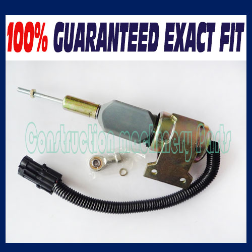 Fast free shipping, Fuel Shutdown Solenoid, 3932529, 3939700,3932329, SA-4756-12, SA-4891-12, 12 Volt fast free shipping 3921980 3918601 fuel shutdown solenoid valve 24v for cummins 6ct 6cta 8 3 new holland