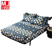 Quilted Cotton Fitted Sheet Flower Bedspreads Rubber Band Sheets European Cover Bed Linen 30cm Deep Mattress covers