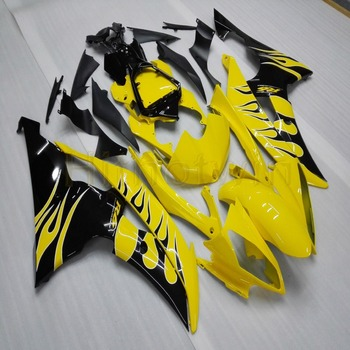 Custom motorcycle cowl  for YZF-R6 2008 2009 2010 2011 2012 2013 2014 2015 2016 ABS Fairing+Screws yellow