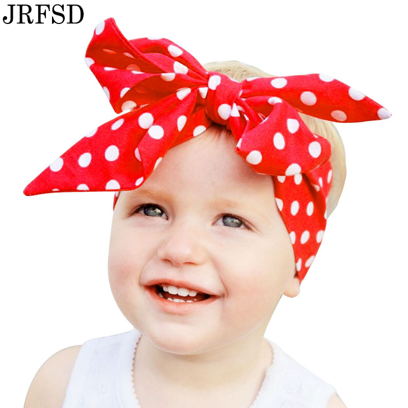 JRFSD 2017 Fashion Colors Pattern Bow Headband Cotton  Hair Accessories for Girls Kids Headwear Flower Elastic Hair Bands jrfsd 1pcs hot sell girls headband with 3 or 6 flower pearl diamond hair bands headbands for girl elastic kids hair accessories