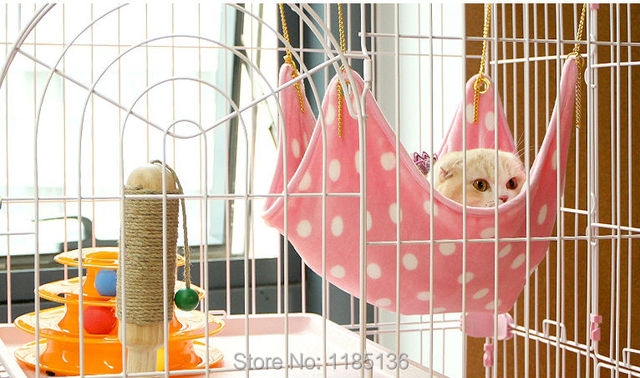 1Set Pet Cat Nest Kennel Washable Soft Pet Products Cat Bed With Cat Swing Hammock Mat Free Shipping D104