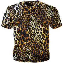 Cloudstyle Leopard Print T Shirt Men Women Funny Animal Fur Camiseta 3D tshirt Mens Casual Fitness Tees Tops Lion t-shirt