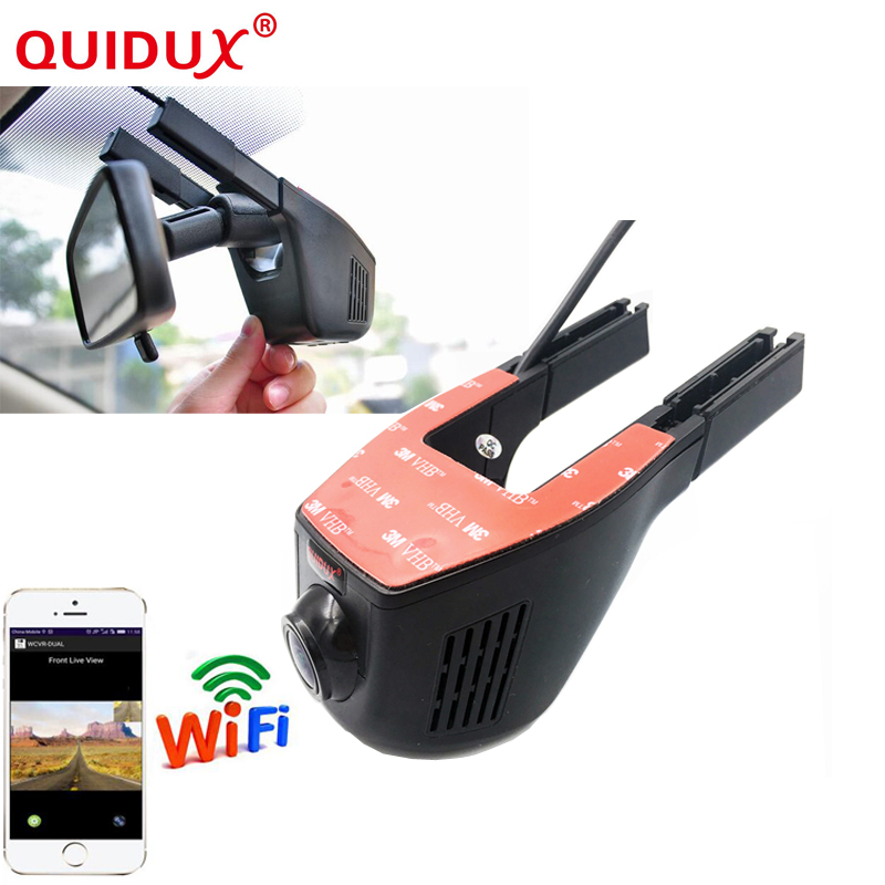 QUIDUX Car DVR Camera Video Recorder WiFi APP Manipulation Full HD 1080p Novatek 96658 IMX 322 Dash Cam Registrator Black Box for kia carnival car driving video recorder dvr mini control app wifi camera black box registrator dash cam original style page 2