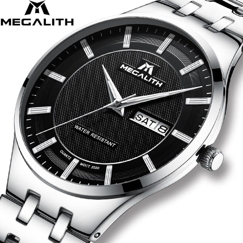 fa9cca157399 MEGALITH Ultra Thin Men s Watch Waterproof Date Analogue Watches Men  Business Casual Analogue Quartz Wrist Watches Gents Clock
