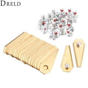 DRELD 30pcs Titanium Golden Ro