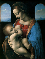 Madonna Litta Oil Painting Handpainted By Leonardo Da Vinci Reproduction Artwork High Quality Wall Pictures For