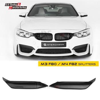 M3 F80 פחמן סיבי פינת ספליטר עד M-ביצועים סגנון עבור BMW F80 M3 F82 M4 F83 2014- הווה 2 יח'\סט