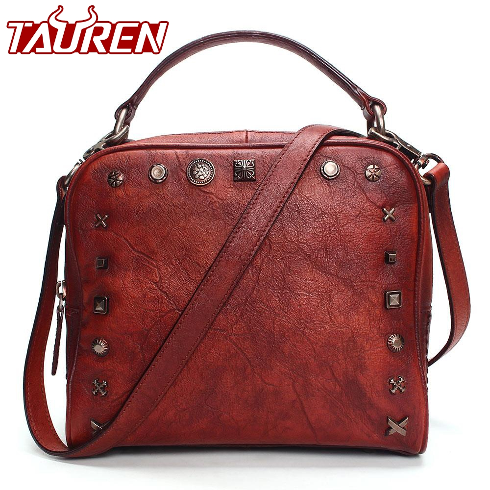 2018 Vintage Leather Crossbody Bags For Women Messenger Bags Women Famous Brand Handbags Rivet Small Shoulder Bags vintage pu leather bags crossbody bags for women messenger bags handbags women famous brand rivet belt buckle small shoulder sac
