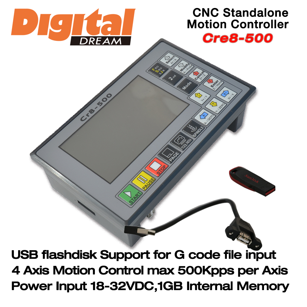 4 Axis 500Khz CNC Standalone/Offline Controller Engraving
