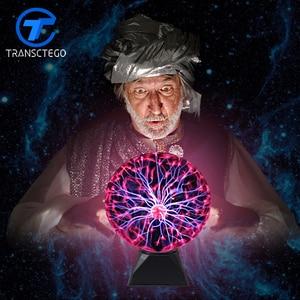 Image 1 - Plasma Bal Licht Magic Crysta Bal Lamp Ion Sphere Lightning Carnaval Sfeer Lampen Voor KTV Zuiveren Lucht Nieuwigheid Nachtverlichting
