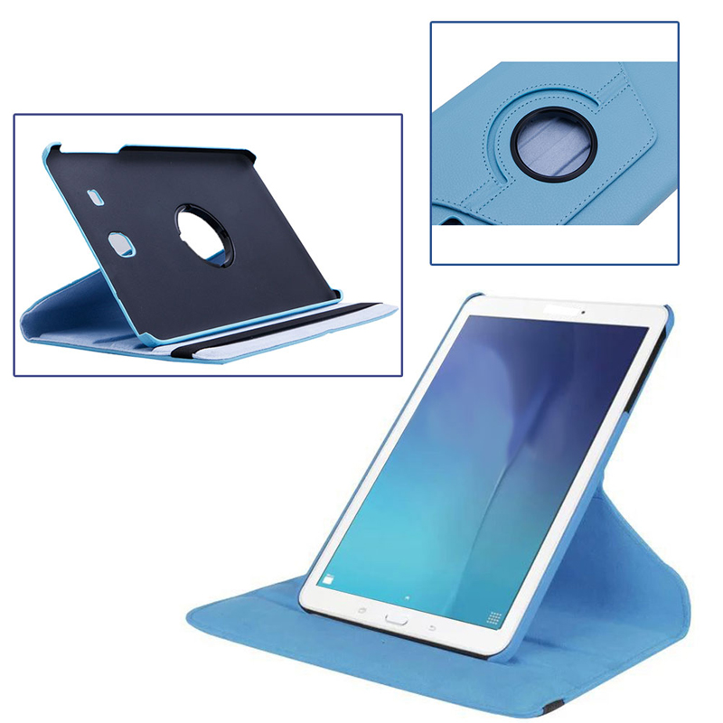 1Pc 360 Rotating PU Leather Smart Case Cover Stand For 9.6