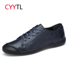 CYYTL Brand Leather Casual Men Shoes Soft Sneakers Spring Loafers Male Comfortable Man Shoe Non-Slip Masculino Zapatos de Hombre