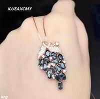 KJJEAXCMY boutique de jóias, Embutidos natural sapphire senhora uva pingente em prata de lei 925