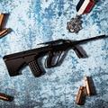 1:3 АВГУСТА металла игрушечный пистолет модель Игрушки Оружие снайперская винтовка Сплав оружие коллекция Подарков DIY juguetes модель пистолета пули металла Действий Рис.