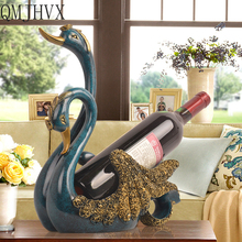 European Swan wine rack resin statue decorations creative home decoration wine holder wedding gifts modern animal wijnrek Gifts цена