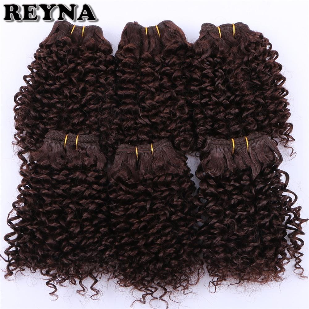 Ramna extensão de cabelo sintético encaracolado, para