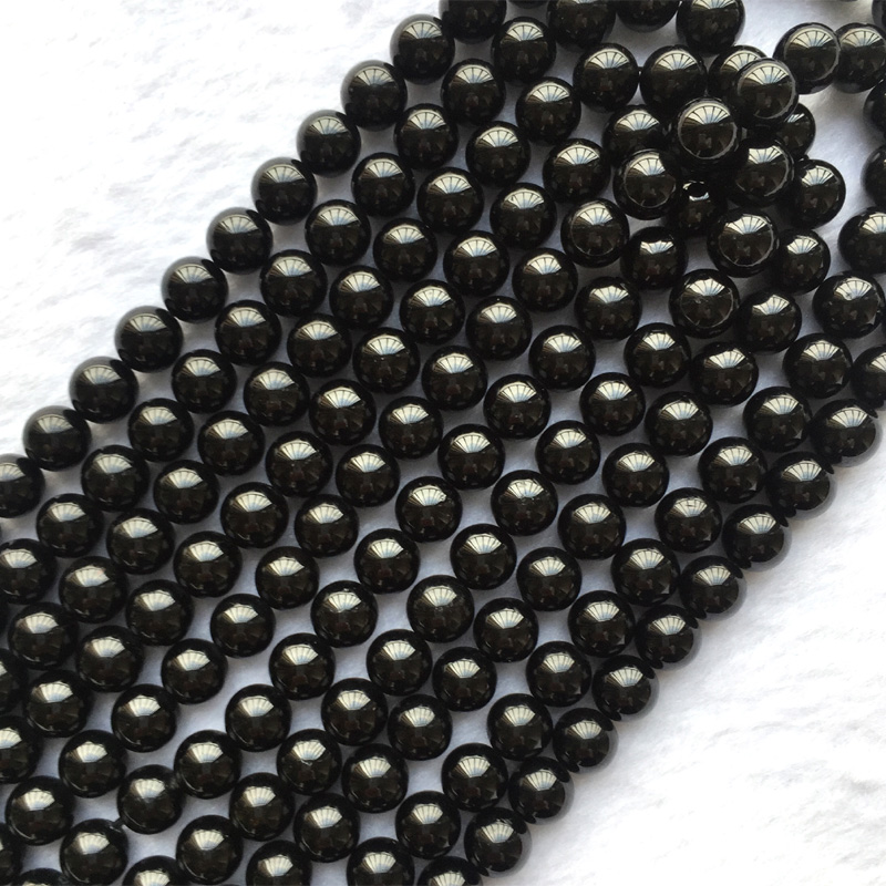 Natural Genuine Black Tektite Round Loose Smooth Beads 4mm 6mm 8mm 10mm 12mm 14mm 15