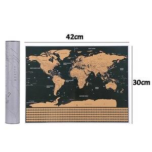 Image 5 - Deluxe Scratch kapalı dünya haritası kişiselleştirilmiş seyahat Atlas Poster yenilik harita