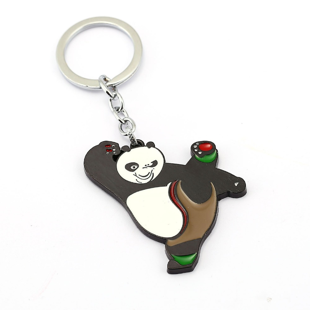 Kung Fu Panda Keychain OPortugal Po Key Rings Holder Gift Chaveiro Car Key Chain Jewelry Movie Souvenir YS11791