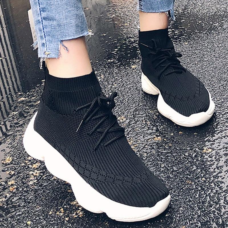 Moxxy Women Shoes 2018 Autumn Sneakers Trend Casual Shoes Breathable  Walking Mesh Flat Sneakers tenis feminino Platform Shoes 4f5712de9b6e