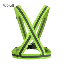 Universal Safety Reflective Strips Vest Belt High Visibility Brightness Safe Security Night Work Running Cycling Uniforms Jacket цена