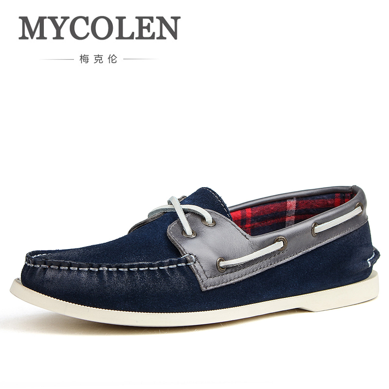 MYCOLEN Men Leather Loafers Driving Light Casual Shoes Mens Spring Autumn Classic Slip On Male Moccasins Erkek Ayakkabi Deri walkera runner 250 advance spare part receiver antenna fixing mount