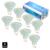 8x pcs GU10 3 W 4 W SMD 3528 48 60 LEDS de Luz da Lâmpada com Tampa De Vidro Branco Quente Branco Frio AC 220 V 230 V Spotlight lâmpada