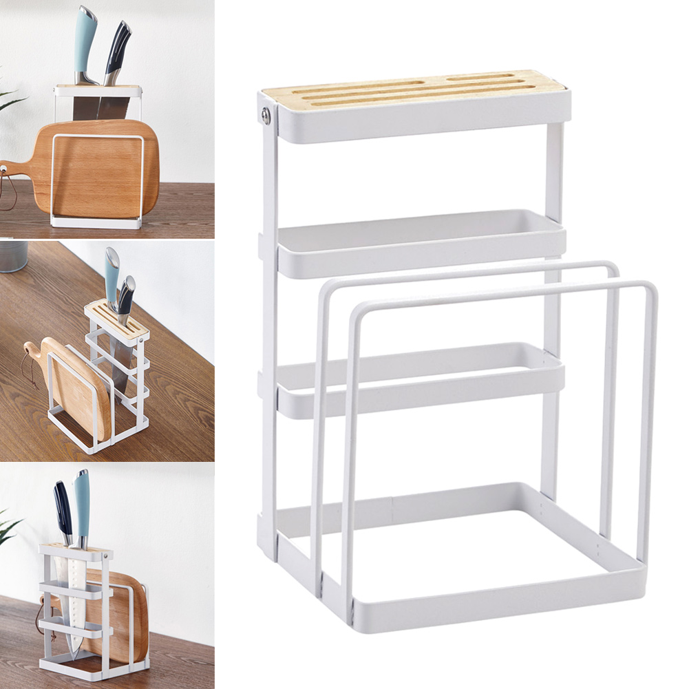 Metal Cutting Board Chopper Holder Drying Rack Counter Display Stand Kitchen Storage Tool MYDING