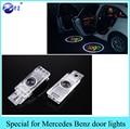 1 Unidades car styling LED puerta luz bienvenido Logo lámpara Del Proyector para Mercedes Benz SLK R172 R171 W203 CLK W208 W209 W240 SLR C119