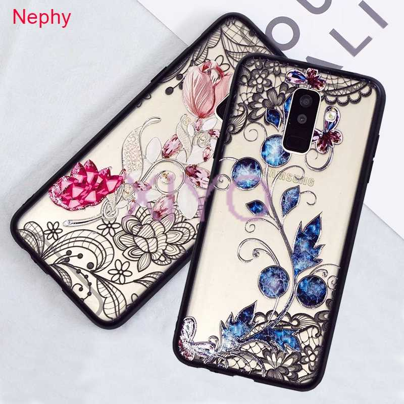 Lace Flower Phone Case For Samsung Galaxy Note9 S8 S9 Plus S7 Edge A3 A5 J3 J5 J7 Prime 2016 2017 A6 A8 Plus J4 J6 J8 2018 Cover