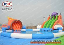 high quality adult and kid hotel inflatable water park games with slides