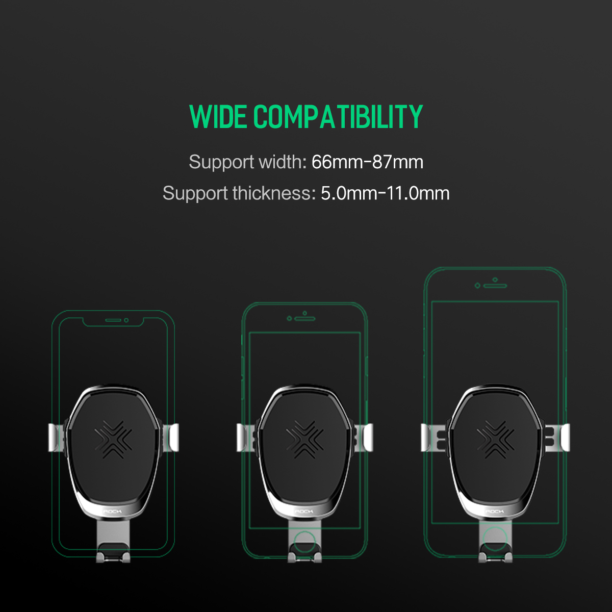 HTB1zmpvKpOWBuNjy0Fiq6xFxVXa2 - 10W QI Wireless Car Charger Gravity Holder , ROCK for iPhone X 8 Plus Samsung Galaxy S8 S7 Note 8 Quick Charge Charging Stand