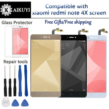 Original Sensor For Xiaomi Redmi Note 4X  LCD Display Touch Panel Screen Digitizer Assembly with Frame for elephone vowney lite touch screen sensor with lcd display panel assembly 100