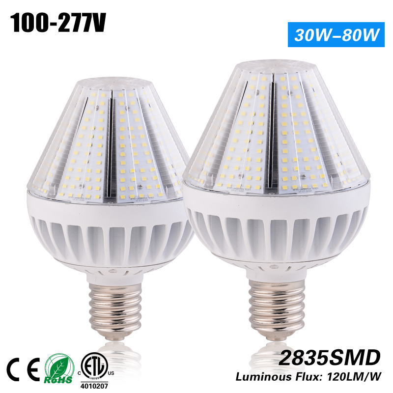 Free Shipping CE ROHS ETL listed Led 40w pyramid corn light E27 replacement 175w HPS MH HID 3 years warranty 1000led led gas station light 150w 16 000 lumen 500w 650w hid hps equal daylight 5 000 kevin ac100 277v waterproof ip65 canopy